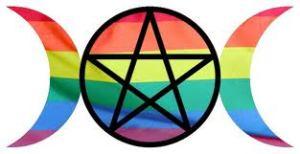gay triple goddess pentacle